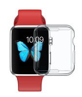 klare uhren groihandel-TPU Fall der vollen Abdeckung für Apple-Uhr-Reihe 4 iwatch 4 40mm 44mm kristallklare TPU-weiche Abdeckung 300pcs / lot