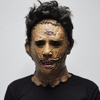 Wholesale scary halloween movie masks resale online - The Texas Chainsaw Massacre Leatherface Masks Scary Movie Cosplay Halloween Costume Props High Quality Party Supplies Toys