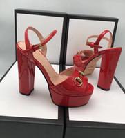zapatos de mesa al por mayor-2018 sandalias y altura de la mesa de agua 13CM pies 4CM sienten los zapatos de tacón alto más cómodos con el paquete completo size.35-41
