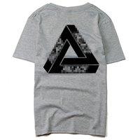camisas misturadas da cor t venda por atacado-Novos homens verão moda nova marca Hip Hop mistura de algodão Casual t-shirt dos homens preto branco cinza Tri-color letras e impressões
