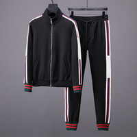 kat seti toptan satış-Erkek Tracksuits Sweatshirt koşucu Suits Spor Erkek Kapüşonlular Ceketler Coat Erkekler Kadınlar Spor Kazak Eşofman Ceket setleri Suit Suits