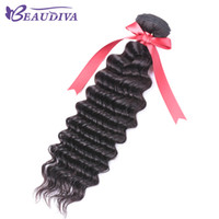 Wholesale grade 8a human hairs resale online - Beaudiva Brazilian Unprocessed Virgin Hair A Grade deep Wave Only One Piece No Tangle Cheap deep Wave inch Human Hair Extension