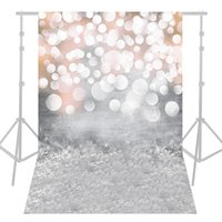 Wholesale computer photo background - Andoer 1.5 * 2.1m 5 * 7ft Photography Background Glitter Light Bokeh Spot Backdrop Digital Printed Photo Studio Props D5348-1
