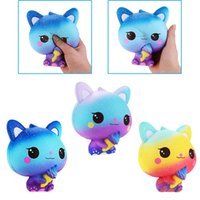 kawaii eiscreme squishy großhandel-Ice Cream Cat Squishies Toys Langsam aufsteigende Kawaii Squishy Icecream-Katze weich duftender langsamer Rebound Charms Eistüten