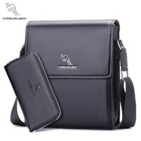 erkekler deri haberci çantası kanguru toptan satış-YUES KANGAROO erkekler haberci çantası erkek deri çanta tasarımcısı omuz iş için crossbody evrak çantası