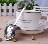 Lovely Heart Shape Stainless Steel Tea Infuser ball Resuable Spoon Strainer Steeper Handle Shower Cute Tea Filter