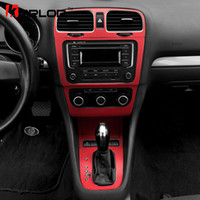 Wholesale Golf Interior - wholesale Volkswagen Golf 6 MK6 GTI Interior Central Control Panel Carbon Fiber Protection Stickers Decals Car styling For VW Accessories