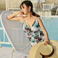um traje de banho peça esporte venda por atacado-Mulheres Lace Up One Piece Swimsuit Maiôs Beachwear Esportes Corrida Apertado Senhora Musculação Swim Desgaste