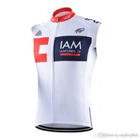 Wholesale iam cycling - 2018 Pro Team cycling jersey IAM mtb bike vest men cycling clothing summer breathable bicycle Sleeveless shirts sportswear C1302