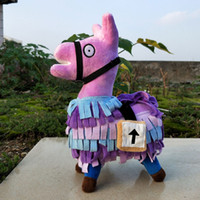 Discount stuffed animal costumes - 2018 New Battle Royale Troll Stash Llama Figure Doll Soft Stuffed Animal Toys Plush dolls mascot