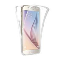telefon kutuları galaksi çekirdeği toptan satış-Samsung galaxy S3 için cep Telefonu Kılıfı duos S4 S5 neo S6 S7 kenar S8 artı Not 3 4 5 Çekirdek Grand Başbakan 360 Tam Temizle Kapak