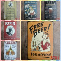 free beer signs Australia - FREE BEER 20*30cm Wall Art Metal Tin Signs Christmas Gifts Luxury Home Decor Posters Arts and Crafts Bedroom Wall Decorations