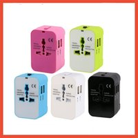 Wholesale usb wall charger multi online - Usb Multi Function Travel Adapter Conversion Plug Worldwide All In One Universal Wall Charger Power Adapters With Mix Color sg jj