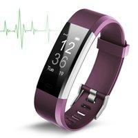 bester watch tracker großhandel-Beste Qualität Ursprüngliche Farbe LCD Bildschirm ID115 Plus Smart Armband Fitness Tracker Pedometer Uhrenarmband Herzfrequenz Blutdruckmessgerät