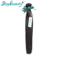 свободные пучки волос оптовых-Rosa Beauty Hair Products Brazilian Hair Weave Bundles Straight 100% Human Weft Remy Weaving Shipping Free