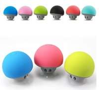 Wholesale rca mp3 player resale online - Cheap Price Mushroom head Hands free Bluetooth stereo cute mini wireless Bluetooth portable speaker hot item by dhl