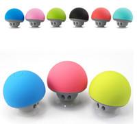 champignons haut-parleurs achat en gros de-Pas cher Prix Mushroom tête Mains libres Bluetooth stéréo mignon mini sans fil Bluetooth haut-parleur portable article chaud par dhl