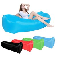 Wholesale outdoor beds inflatable online - Inflatable Outdoor Lazy Couch Air Sleeping Sofa Lounger Bag Camping Beach Bed Beanbag Sofa Chair HHA57