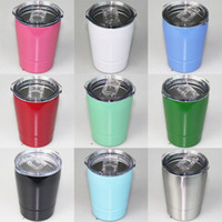 Wholesale Oz Wines - 2018 New 9 oz wine glasses Vacuum Insulated mug Stainless Steel Lowball with lid with straw 9oz kid mug cup free shipping
