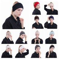 accessoires pour cheveux tricotés achat en gros de-13 Couleurs Tricoté Bandeaux Femmes Hiver Oreilles Bandeaux Tricoté Turban Headwrap Crochet Bandeau Cheveux Accessoires CCA10381 300pcs