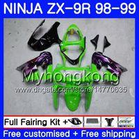 ingrosso kit corporeo kawasaki viola-Body Green purple HOT Per KAWASAKI NINJA ZX900 ZX9 R ZX 900 ZX-9R 98 99 00 220HM.4 900CC ZX 9 R ZX9R 98 99 ZX 9R 1998 1999 2000 Kit carenatura