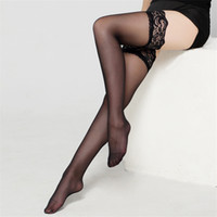 Wholesale Sexy Thigh High Stocking - 2017 Women Sexy Stockings Plus Size Long Over Knee Stocking Lace Thigh High Socks Knee High Socks Sexy Lingerie Nylon Stockings