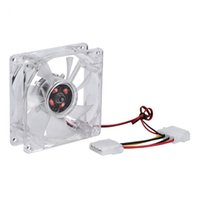 Computer PC Fan 80mm With LED 8025 Silent Cooling Fan 12V LED Luminous Chass GL