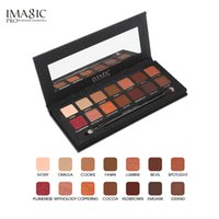 Wholesale eye shading brush - Free DHL IMAGIC Eyeshadow Palette 14 Colors Eyes Shimmer Matte Eyeshadow Makeup Light Eye Shadow Palette Shades With Brush free ship