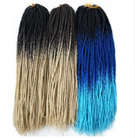 Wholesale ombre senegalese twist hair resale online - Hair Synthetic Ghana Senegalese Twist Braiding Hair Extensions quot Brown Blonde Ombre Crochet Braids Hair Attachment