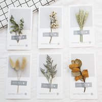 Wholesale Universal Wedding - Art hand-dried flowers greeting card 2018 new personality DIY greeting cards holiday universal greeting cards wholesale