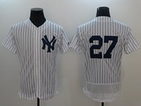 Wholesale M Payments - 2018 Traderjoes Mens Flexbase Jerseys Cool Base Baseball Jersey #99 Aaron Judge #27 Giancarlo Stanton White Size M-3XL For Payment Only