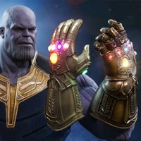 Wholesale new avengers movie - 2018 Movie Avengers 3 Infinity War LED Infinity Gauntlet Thanos LED Gloves Halloween Party Cosplay Props New