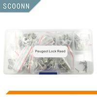 reparacion de llaves de coche peugeot al por mayor-Envío gratis 12 tipos 240 unids Auto Car Key Lock Repair accesorios Car Lock Reed Plate para Peugeot Citroen