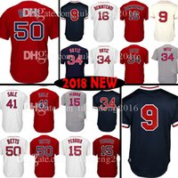 Wholesale Boston Sales - Boston 50 Mookie Betts 34 41 Chris Sale Jersey 15 Dustin Pedroia 16 Andrew Benintendi 9 Ted Williams Baseball Jerseys