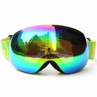 ingrosso occhiali ultravioletti-UV400 Snow Goggles Doppio Strato Lenti Anti Fog Windbreak Occhiali Da Sci Donne Uomini Anti Ultravioletto Snowboard Occhiali S106G