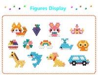 aqua spielzeug großhandel-Blocks Bricks Hama Perlen 24 Farben Aqua Perlen Modell Puzzle Spielzeug Magical Aquabeads Keychain Lernspielzeug Wasserspielzeug für Kinder