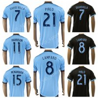 Wholesale villas jersey - New York City Soccer Jersey 2017 2018 FC 21 Andrea Pirlo Football Shirt Kits 7 David Villa 8 Frank Lampard 15 NYCFC 11 HARRISON 10 MIX