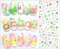 etiquetas do japão para miúdos venda por atacado-Estilo kawaii japão kawaii estilo dos desenhos animados nail art remendo adesivos decalques de transferência de água wraps cat halloween etiqueta do prego para crianças