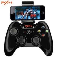 controlador inalámbrico para ipad al por mayor-PXN Joystick portátil con mando de vibración Gamepad MFi Certificado inalámbrico con Bluetooth Game Controller para iPhone / ipad / App TV IOS