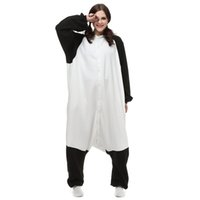 Wholesale chinese pandas for sale - Group buy Chinese Panda Women and Men Animal Kigurumi Polar Fleece Costume for Halloween Carnival New Year Party welcome Drop Shipping