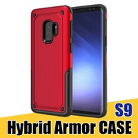 Wholesale phone protective covers - For S9 S9Plus Hybrid Armor Back Case Heavy Duty Rugged Protective Phone Cover Case for Samsung J7 J5 iPhone X 2018
