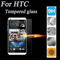 m7 bir film toptan satış-HTC 0.26mm 9 H 2.5D Sertlik Temperli Cam Ekran Koruyucu Film Kapak Guard htc için bir m7 m8 m9 m9 Artı M10