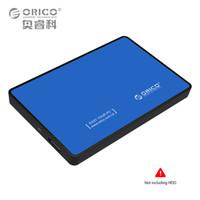 pc sabit diskler hdd toptan satış-ORICO 2588US3 SATA HDD SSD USB3.0 Harici Sabit Disk Sürücü Kutusu Saklama Kutusu Muhafaza 5 Inç Windows için 2.5 Inç Windows PC Mavi