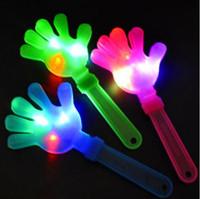 ingrosso hanno condotto le palme-28cm Flash LED Mani luminescenti Applauso luminoso Forniture per feste Apparecchio per applauso luminoso Apparecchio per feste luminoso CCA10500 500 pezzi