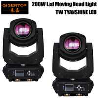 Wholesale Moving Light Gobos - Freeshipping 2 Unit 200W Spot Led Moving Head Light 6 18 Channel 6 Gobos 7 Colors Prism Electronic Linear Focus Sound Active Smooth Movement