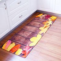 gummiboden grün großhandel-Comfort bodenmatte 60x180 cm kissen rutschfeste küchenmatte gummi hinterlegung fußmatte badezimmer wohnzimmer matte für kinder flanel caroset teppich
