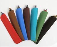 Wholesale brand pvc case for sale - Group buy Luxury pen bag black Pvc Matte leather design hold for fountain ballpoint pen bags Gift pen case Mon brand new pouch