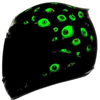 schwarze vollgesicht motorradhelme großhandel-MALUSHEN Luminous Motorradhelm Moto Helm Moto Mais Persönlichkeit Vollgesichtsmotor Reine Farbe Schwarz Weiß Rosa