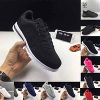 buy popular 0988d e2c18 Nuevo producto Clásico Cortez Zapatos casuales básicos baratos Moda Hombres  Mujeres Negro Blanco Rojo Dorado Zapatillas de skate Skateboard Tamaño 36-46