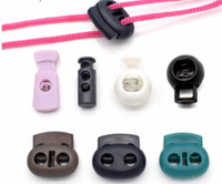 Wholesale cord stoppers wholesale - Black Plastic Stoppers Cord Lockhole Toggles Clip Apparel Bungee Cord Accessories Clothes Plastic Push Lock Colorful 40pcs